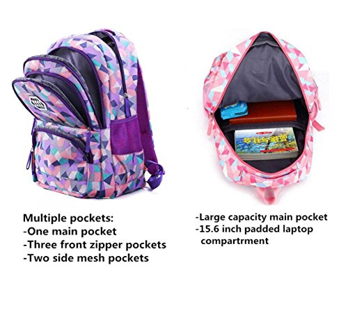 Light Primary School Boys Waterproof And Bag Z Backpack Backpack Suitable For Old amp;X Multi Pink Child Purpose Travel Leisure Years 6 14 Girls Bag XEU55q