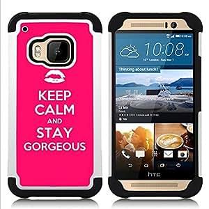 For HTC ONE M9 - calm kiss fashion quote motivational Dual Layer caso de Shell HUELGA Impacto pata de cabra con im??genes gr??ficas Steam - Funny Shop -