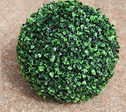 (FidgetKute 1x18cm Artificial Boxwood Topiary Faux BUXUS Balls House Home Party Office Decor)