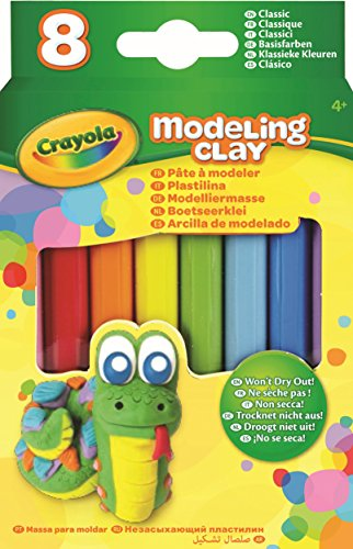Modeling Clay Sticks - Crayola Modeling Clay (8 Per Pack), 0.6 Ounces Basic