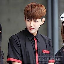 New Sale Korean wig male student pot mushroom head handsome fashion short hair fluffy short straight hair natural whole