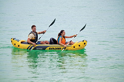 51AF1dnW97L - Intex Explorer K2 Kayak, 2-Person Inflatable Kayak Set with Aluminum Oars and High Output Air Pump