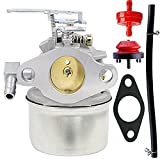 HOOAI Carburetor Carb for Tecumseh 632107 632107A With Free Gasket and Primer Bulb and Fuel Filter and Fuel Line