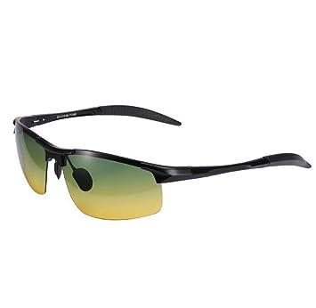 SHULING Gafas De Sol La Conducción Nocturna Hombres Gafas De Sol Polarizadas Gafas De Visión Nocturna