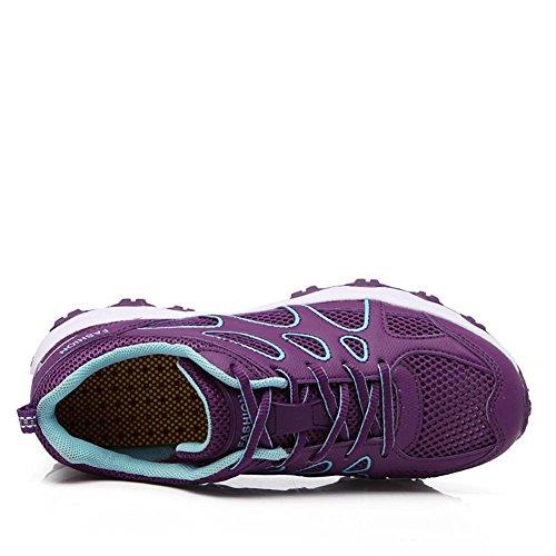 Chaussures Purple Pour Trekking Femmes Et Baskets Antidérapantes Légères D'été Mode Suetar De Mesdames Respirantes Sport Maille UnfSZtpq
