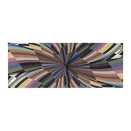 Kess InHouse Danny Ivan Love Affair Beige Geometric Bed Runner, 34'' x 86'' by Kess InHouse (Image #1)'