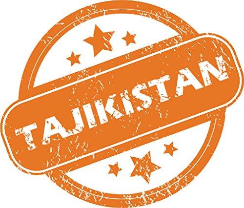 Review Tajikistan Grunge Stamp Home