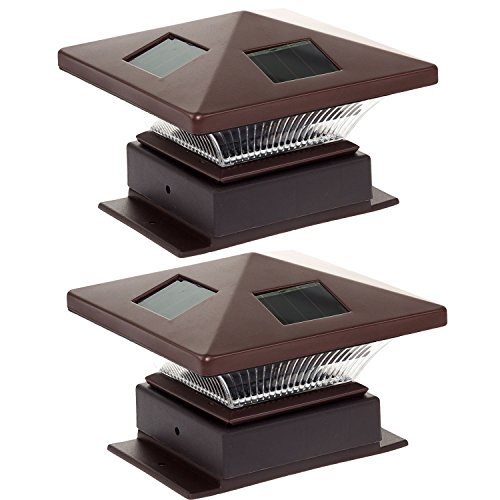 - Westinghouse  Pagoda II Solar LED Post Cap Light for 4 x 4 Wood Posts (Bronze, 2 Pack)
