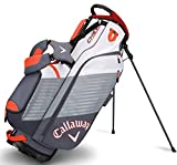 Callaway Golf Chev Stand Bag Stand Carry Golf Bag 2017 Chev Titanium White Orange