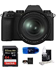 $1499 » FUJIFILM X-S10 Mirrorless Digital Camera with 16-80mm Lens Bundle, Includes: SanDisk 64GB Extreme PRO SDXC Memory Card, Card Reader, Memory Card Wallet and Lens Cleaning Kit (5 Items)