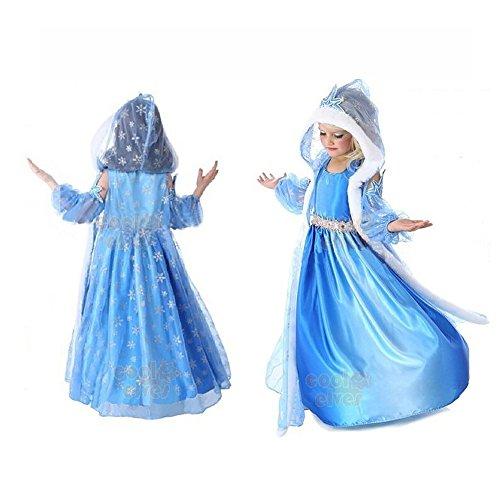 Hiheart Chiffon Cosplay Elsa Princess Girl Dress size 2t