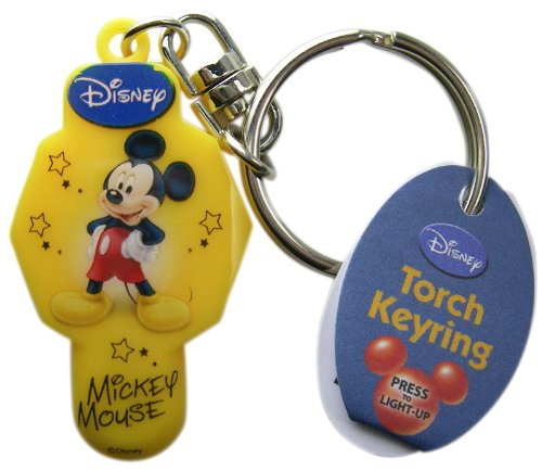 Disney Keychain Torch Light Up Keyring - Mickey Mouse Yellow