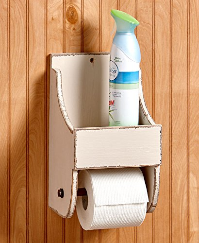 The Lakeside Collection Toilet Paper Holder with Shelf Cream