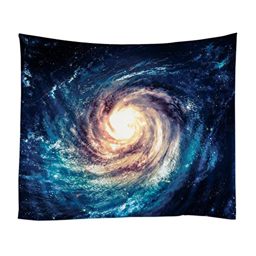 Xinhuaya Nebula Tapestry Space Decorations , Galaxy Stars in Space Celestial Astronomic Planets in the Universe Milky Way Print, Bedroom Living Room Dorm Wall Hanging (51 W by 60