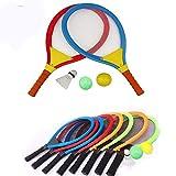 Unetox Badminton Racket Tennis Set Tennis Rackets Balls Badminton Kit Indoor Outdoor Beach Sports Play Game Toys for Boys, Girls, Children 3 4 5 6 Years Old(Random Color)
