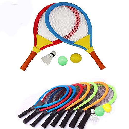 (Unetox Badminton Racket Tennis Set Tennis Rackets Balls Badminton Kit Indoor Outdoor Beach Sports Play Game Toys for Boys, Girls, Children 3 4 5 6 Years Old(Random Color))