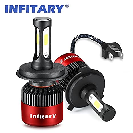 Infitary H4/H7 LED Headlight de phare Hi / Lo faisceau Auto phare, double faisceau de lumiè re, 72W 6500K 8000LM Extrê mement Super brillant COB Kit de conversion de copeaux pour voiture- 1 pai (H1S) double faisceau de lumière S2