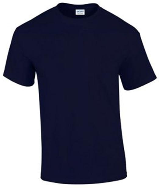 Gildan Herren-T-Shirt, aus Baumwolle, mit kurzen Ärmeln Gr
