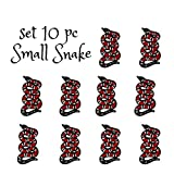 #6: 10 PCS Small Red Snake Patches Embroidered Iron-On Applique Patches Stickers Embroidered Sew Patches for Clothing Bags Shoes By Special100%