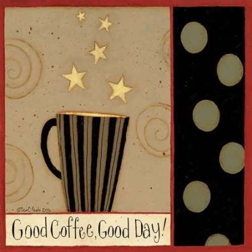 "Good Cup by Dan DiPaolo - 12"" x 12"" Giclee Canvas Art Print"