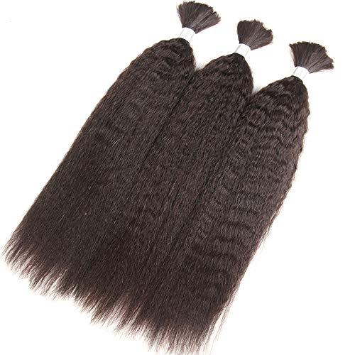 (Kinky Straight Human Braiding Hair Bulk Bundle No Weft 100% Coarse Yaki Bulk Hair)