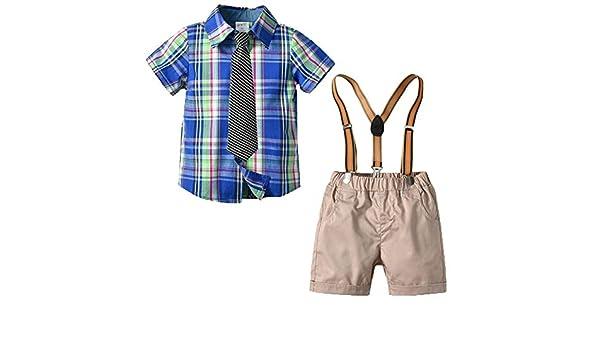 Conjunto de 3 Piezas para Bebé Niños Camisa de Manga Corta + ...