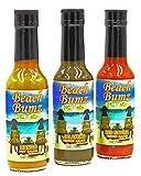 Beach Bumz Pepper Sauce (Mango, Jalapeno, Red Savina)''3 Pack Special''.Mild, Medium & Hot