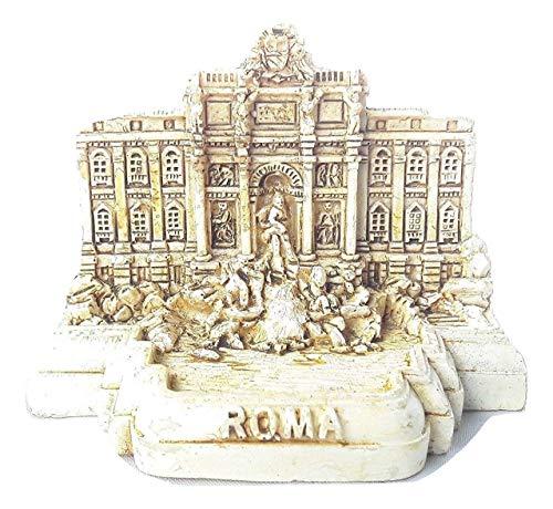 Small Polyresin Model Statue Rome Miniature Fontana di Trevi Trevi Fountain Italy