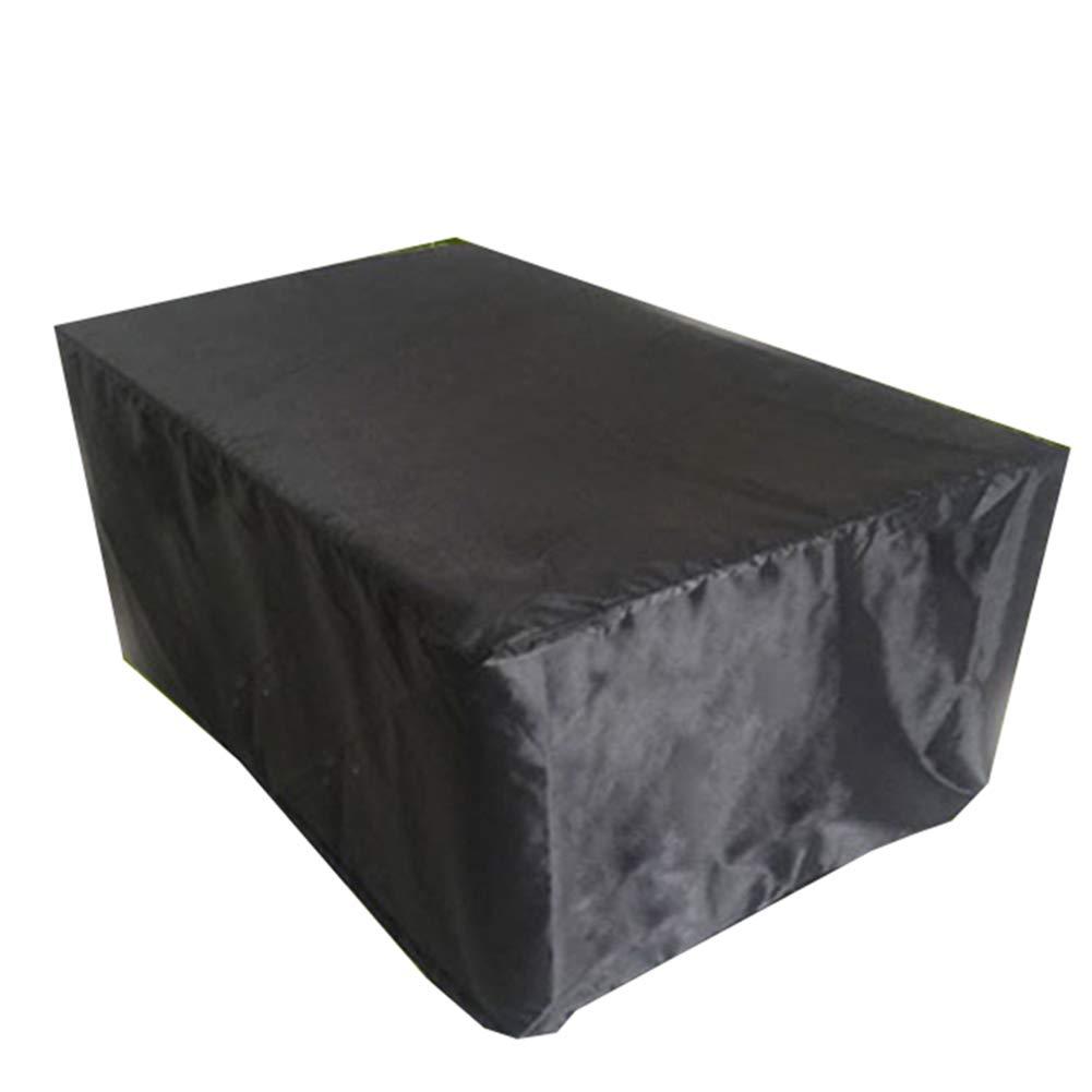 Noir 200x160x70cm AJZXHE Prougeection Contre la Pluie pour Le mobilier d'extérieur, Table et Chaise Anti-poussière de Jardin, écran Solaire imperméable -Tente