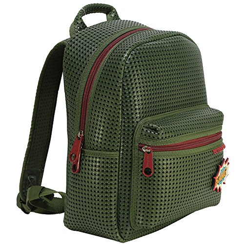 Peterpoint Toddler Backpack School Bag Army Green Children Kids Bookbag for Boy Girl with Add-on Patch -
