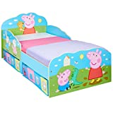 Hello Home Peppa Pig Toddler Bed with Underbed Storage, Wood, Multi, 142 x 77 x 63 cm