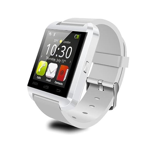 U80 Bluetooth Wrist Smart Watch Phone Mate Handsfree Call for Smartphone Outdoor Sports Pedometer (White)