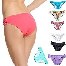 Malinsa Women's Victoria Side Fold Bikini Bottom Low Rise Hipster Allure Swimsuit