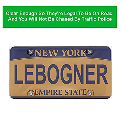 lebogner Car License Plates Shields 2 Pack Clear Bubble Design Novelty Plate Covers to Fit Any Standard US Plates, Unbreakable Frame Covers to Protect Front, Back License Plates, Screws Included: Automotive