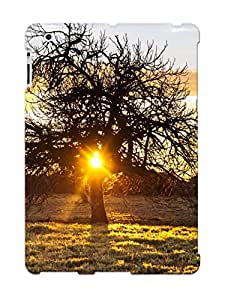 Exultantor High Grade Flexible Tpu Case For Ipad 2/3/4 - The Sunset Tree( Best Gift Choice For Thanksgiving Day)
