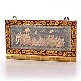 Little India Minakari Art Work Oxidized White Metal 5 Key Stand 292