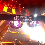Festival Junkie Chrome Spiked PLUR-Vision Rainbow Kaleidoscope Goggles
