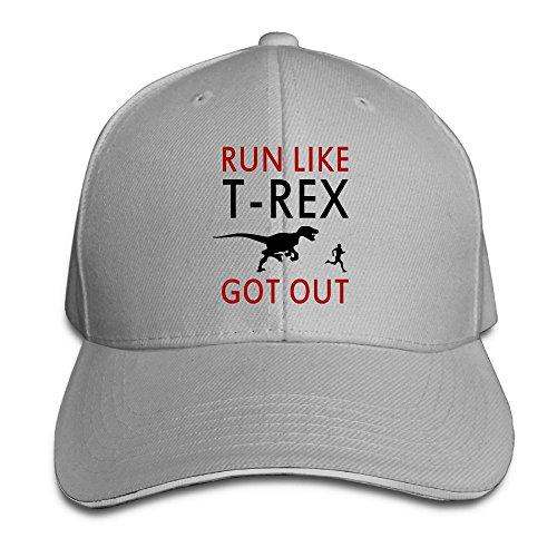 Run Like T-Rex Got Out Casual Unisex Unstructured Cotton Cap Adjustable Baseball Hat Cap - Orlando Marketplace