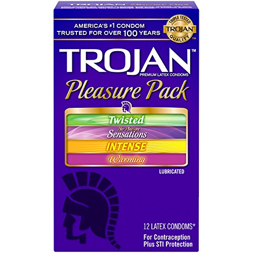 TROJAN Pleasure Pack Latex Condoms 12 Each (Trojan Twisted Pleasure Condoms)