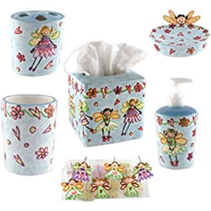 Amazoncom Fairy Princesses Piece Girls Bathroom Accessories - Bathroom accessories for girls