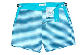 Sttarwish Baby Blue Swim Short For Men