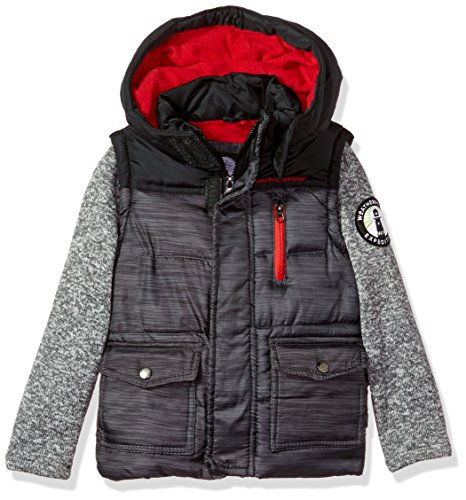Weatherproof Big Boys' Outerwear Jacket (More Styles Available), Sweater Sleeves-WF01-Heather Grey, 18/20 Outerwear
