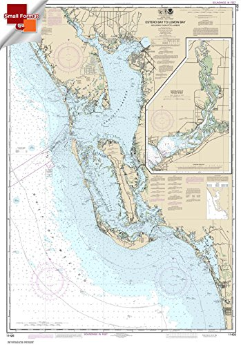 NOAA Chart 11426: Estero Bay to Lemon Bay: including Charlotte Harbor 21.00 x 30.10 (SMALL FORMAT (Lemon Bay)