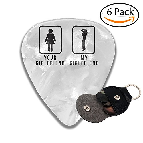 Colby Keats Guitar Picks Plectrums Your Girlfriend Vs My Girlfriend Classic Electric Celluloid Acoustic For Bass Mandolin Ukulele 6 Pack 3 Sizes .71mm ()