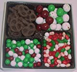 Scott's Cakes Large 4-Pack Christmas Mix Jelly Beans, Dutch Mints, Christmas Malt Balls, & Dark Pretzels