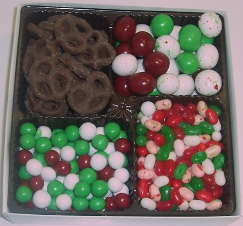 Scott's Cakes Large 4-Pack Christmas Mix Jelly Beans, Dutch Mints, Christmas Malt Balls, & Dark Pretzels by Scott's Cakes