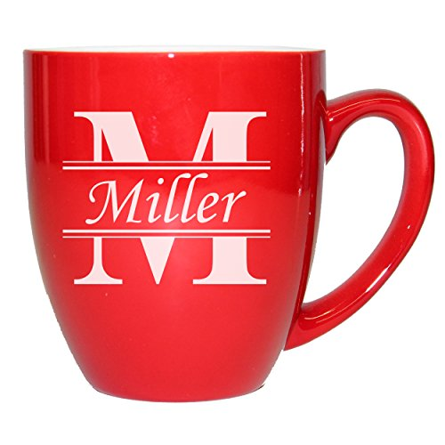Personalized Ceramic Coffee Mug, Custom Engraved Latte Cappuccino Mug Gift