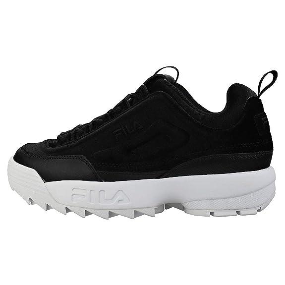 Fila Disruptor II Premium Velour Mujer Zapatillas Negro: Amazon.es: Zapatos y complementos