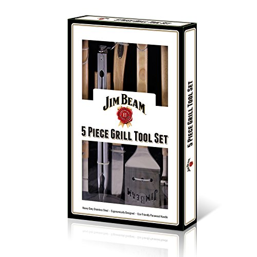 Jim Beam 5-Piece Grill Tool Set Product Category: Kitchen Appliances & Accessories/Kitchen Accessories ()