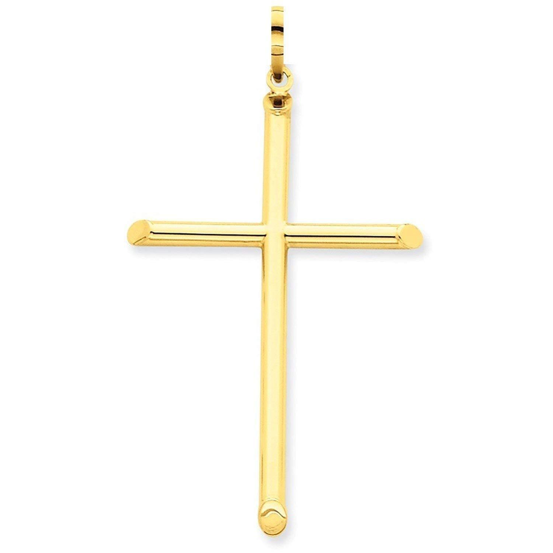 PRINS JEWELS Gold Kreuz Anhä nger Aus 14 Karat 585 Gelbgold Unisex K14